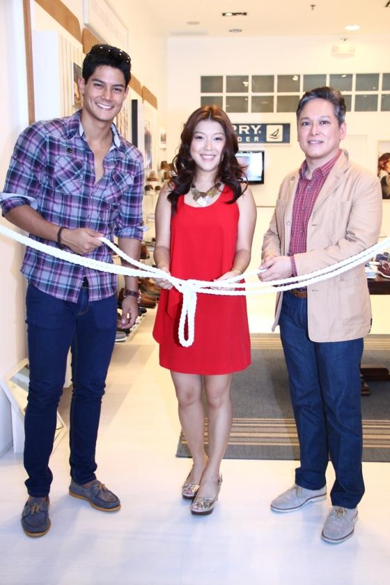 Ceremonial untying of nautical rope by Daniel Matsunaga Karen Ong and Joseph Reyes